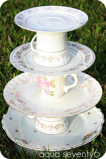 9 The Vintage Dish Dessert Tower