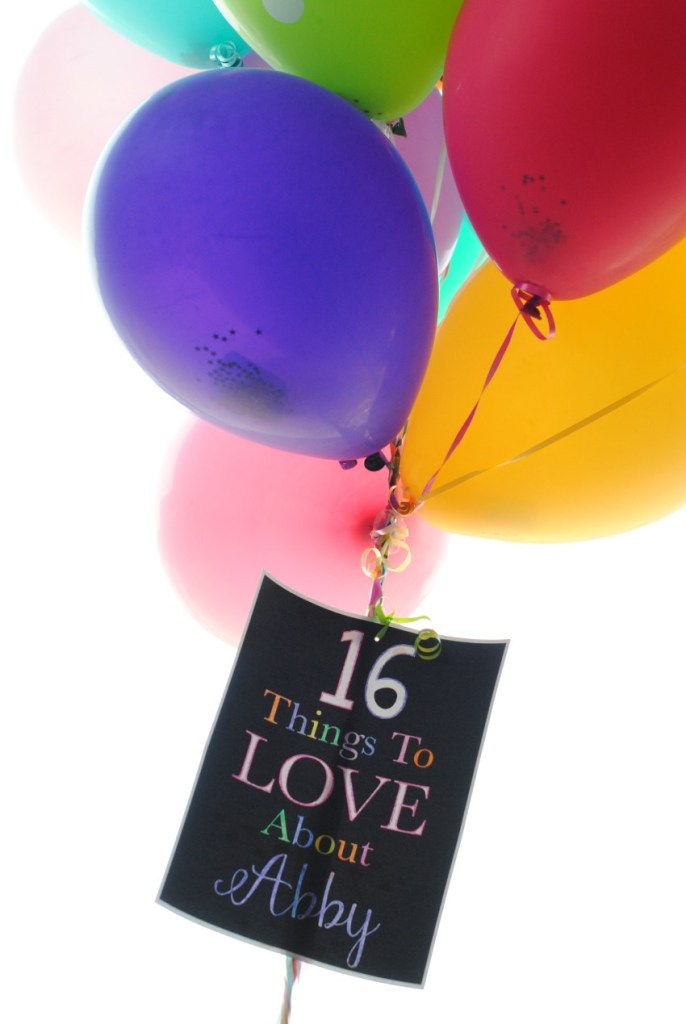 1 Balloons Filled with Notes Gift