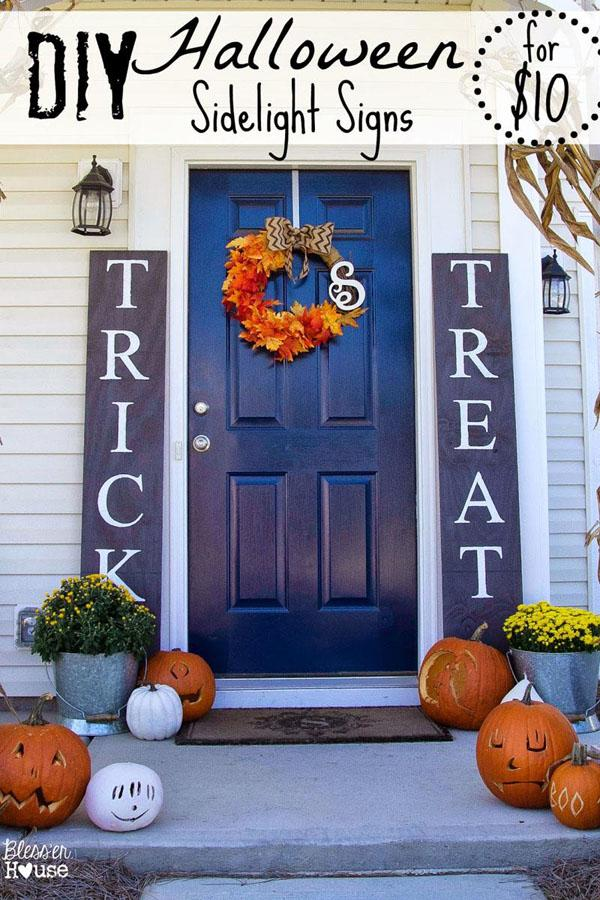 10 DIY Trick or Treat Signs for Halloween