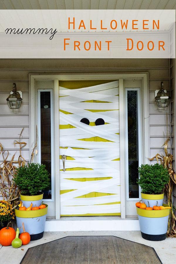 13 Mummy Halloween Front Door Decor