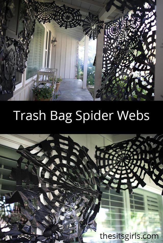 13 Trash Bag Spider Webs