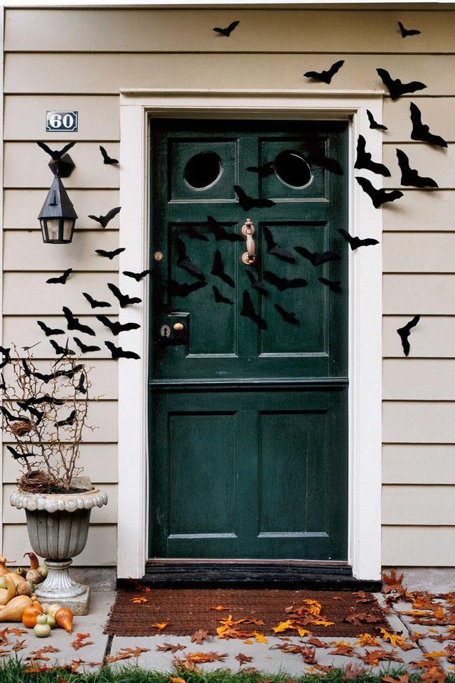 16 Bat-Filled Front Door