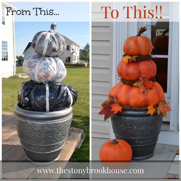 17 Halloween Pumpkins From Trash Bags
