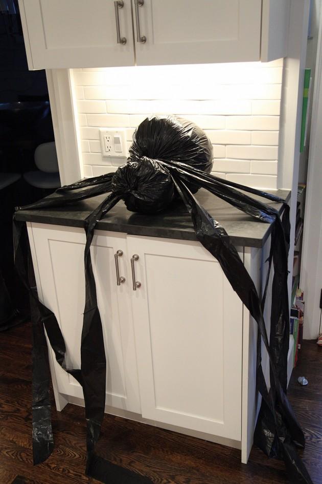 18 HALLOWEEN SPIDER From Trash Bags