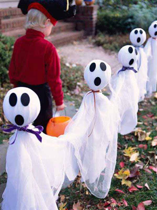 19 HALLOWEEN Ghosts From Trash Bags