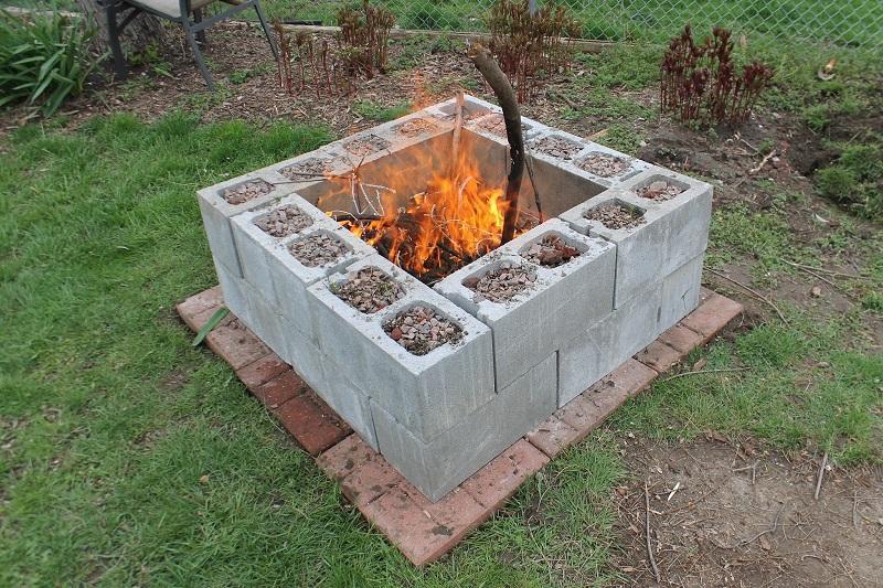2 Cinder Block Fire Pit