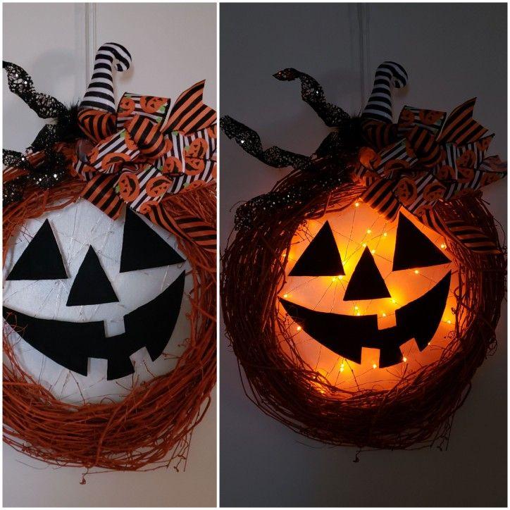 21 Halloween pumpkin wreath