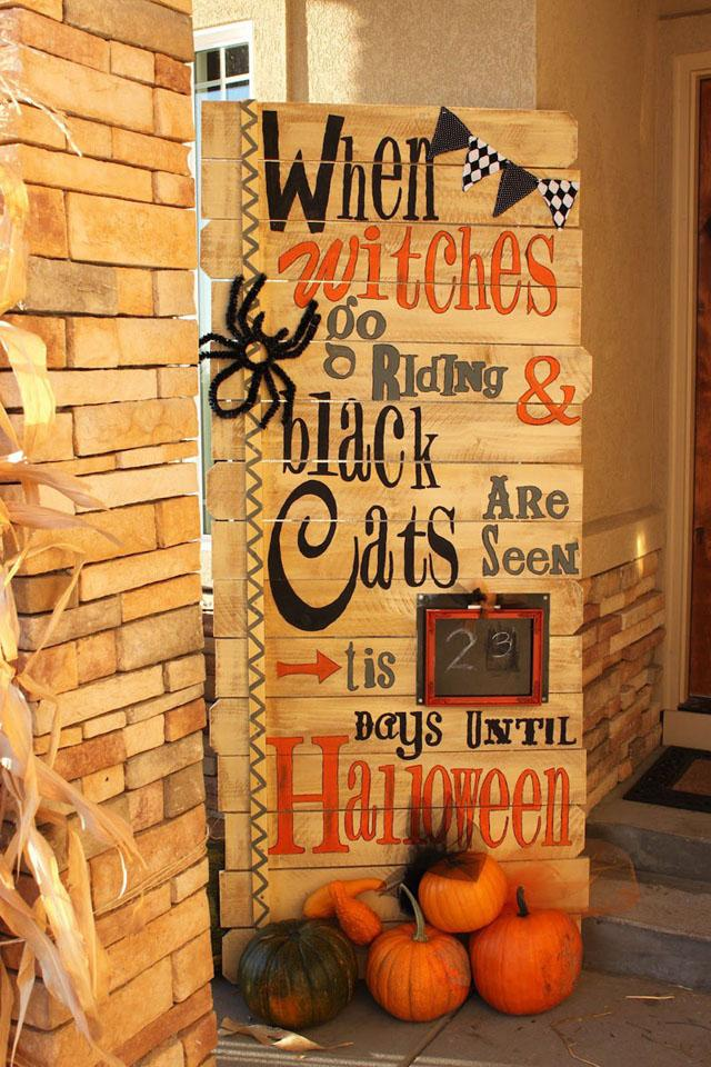 22 Pallet Countdown Halloween Sign
