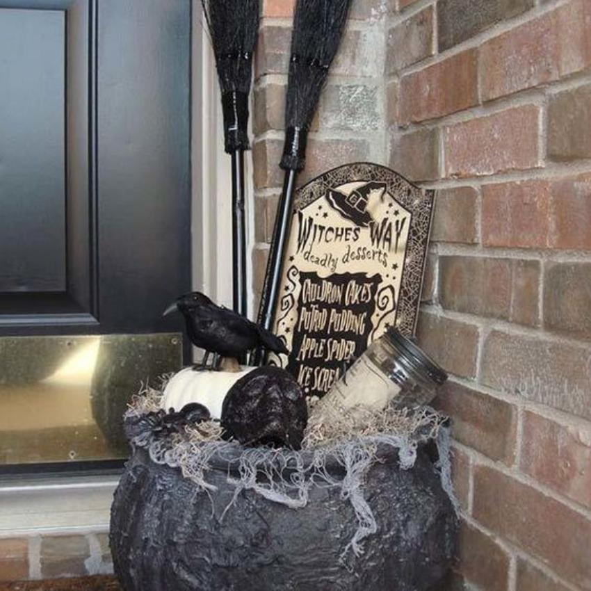 24 Witch Cauldron for Entryway