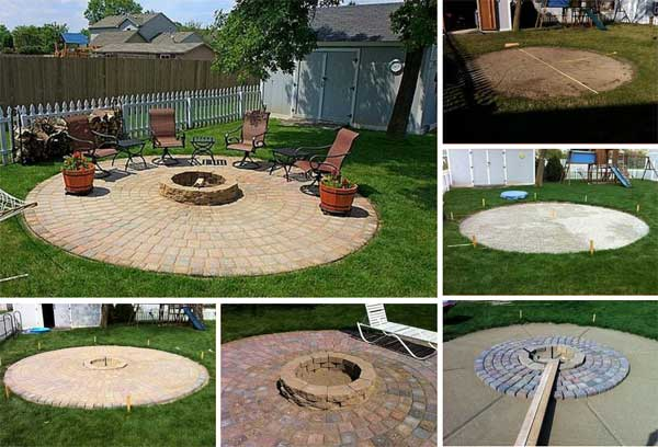 25 DIY a Patio and Fire Pit