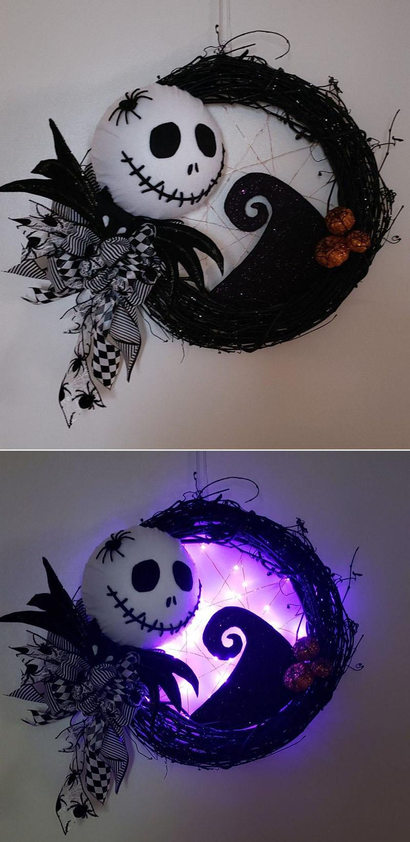 25 Jack Skellington Nightmare Halloween wreath
