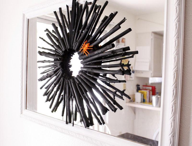 26 Black Twig Wreath