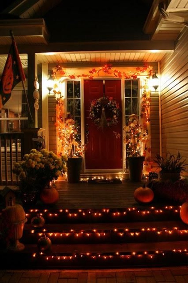 28 Halloween Lit Up Stairs