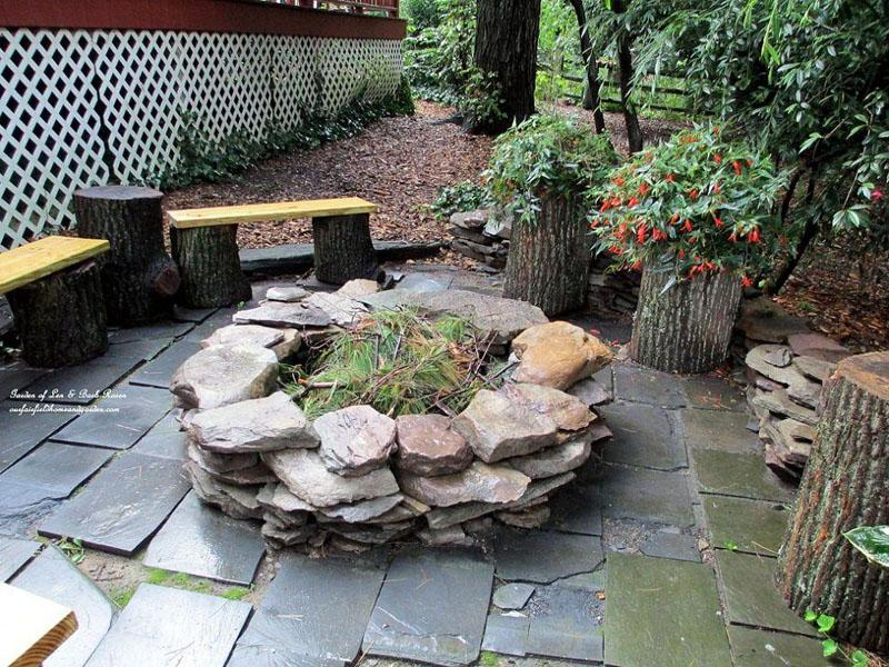 3 Overlaid Stone Fire Pit