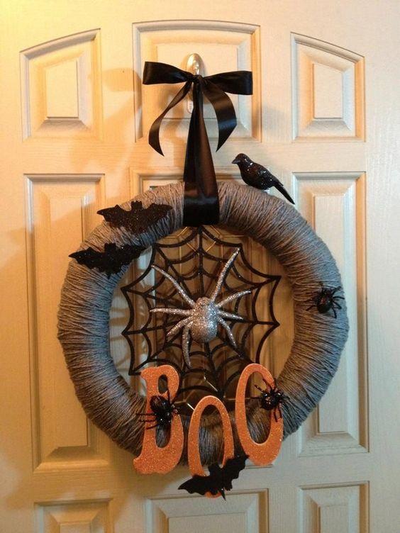 30 Easy DIY Halloween wreath