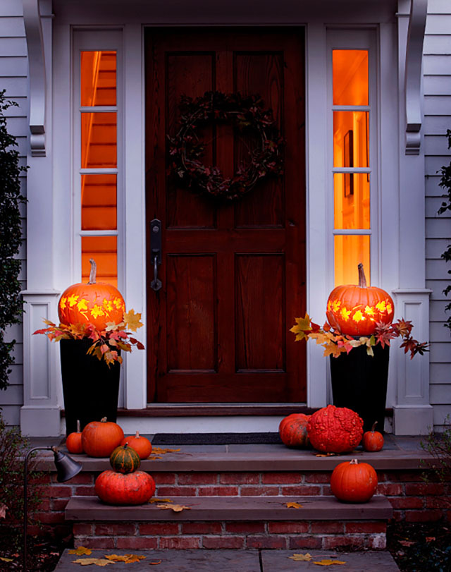 36 Pumpkin Lantern Front Porch