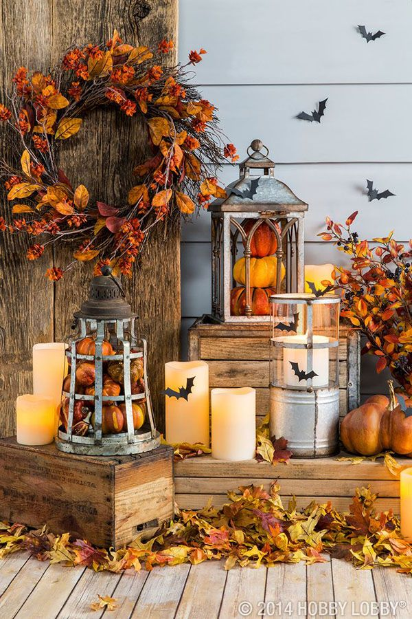 39 Spooky Candle Porch Display