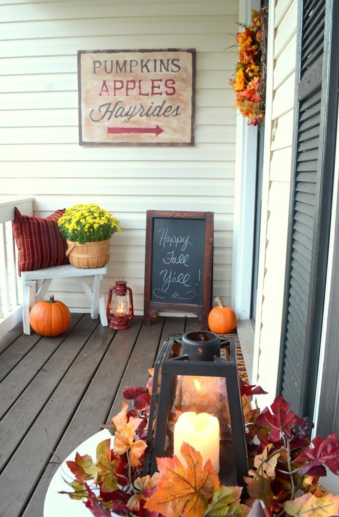 4 Rustic Fall Sign with Chalky Finish paint