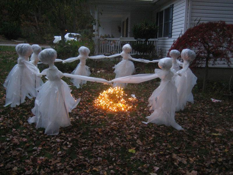 5 Ghosts Dancing Around a Fire