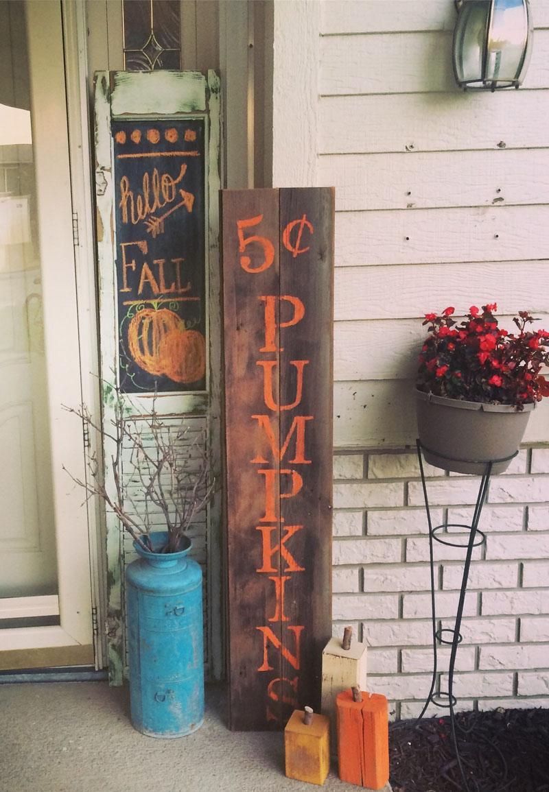 5 Pumpkin Pallet Sign