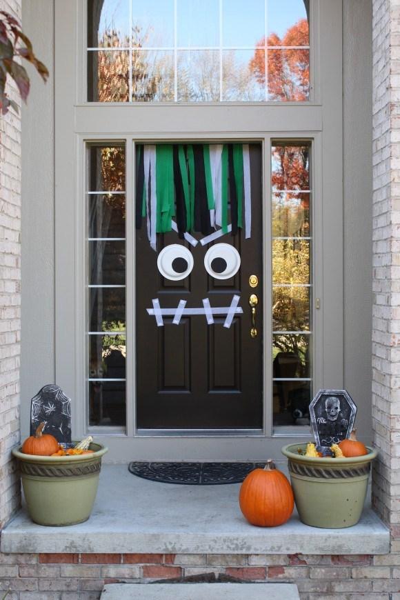 9 Monster Halloween Front Door Decor
