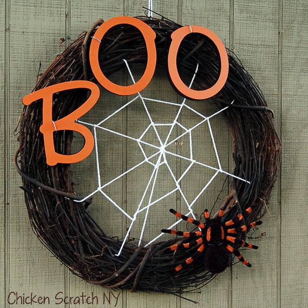 9 Spider Web Wreath