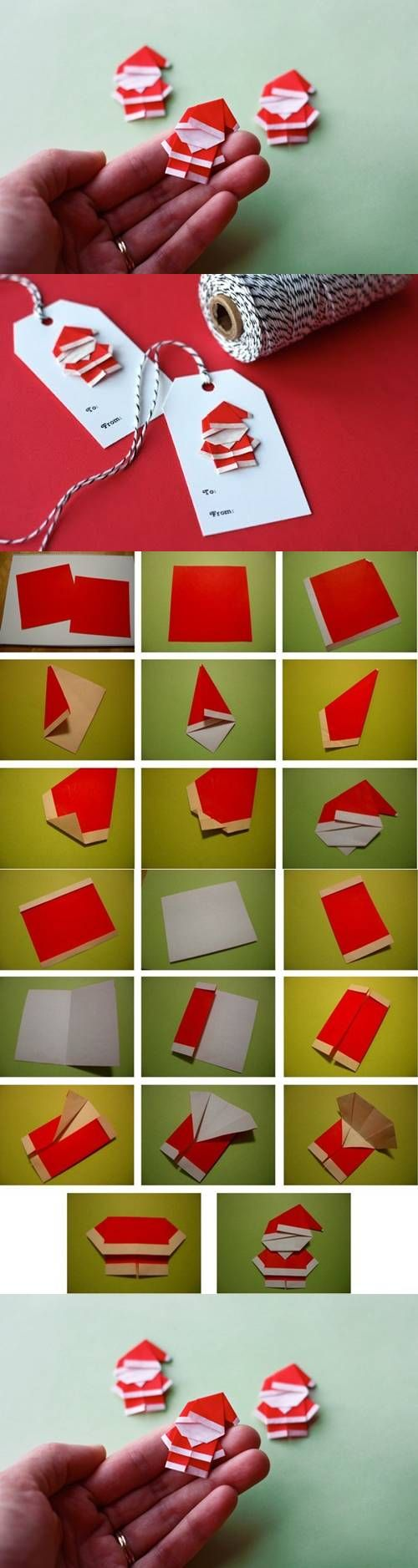 1 DIY Cute Mini Origami Santa