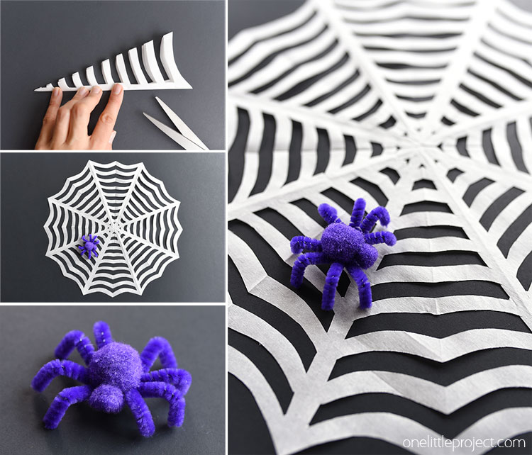 1 Paper Spiderwebs