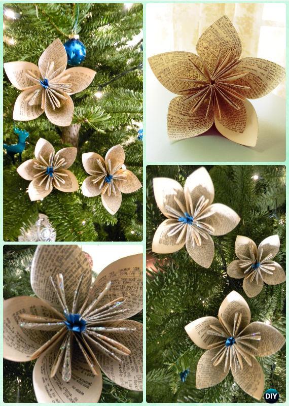 10 DIY Glitter Paper Flower