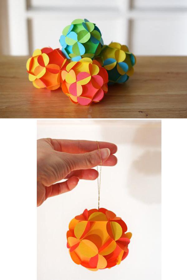 11 3D Paper Ball Ornament