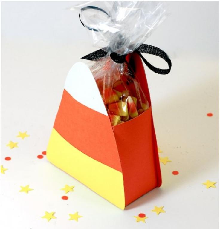 13 Halloween Candy Corn Treat Box