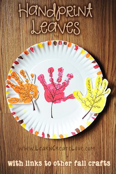 13 Handprint Fall Leaves Craft