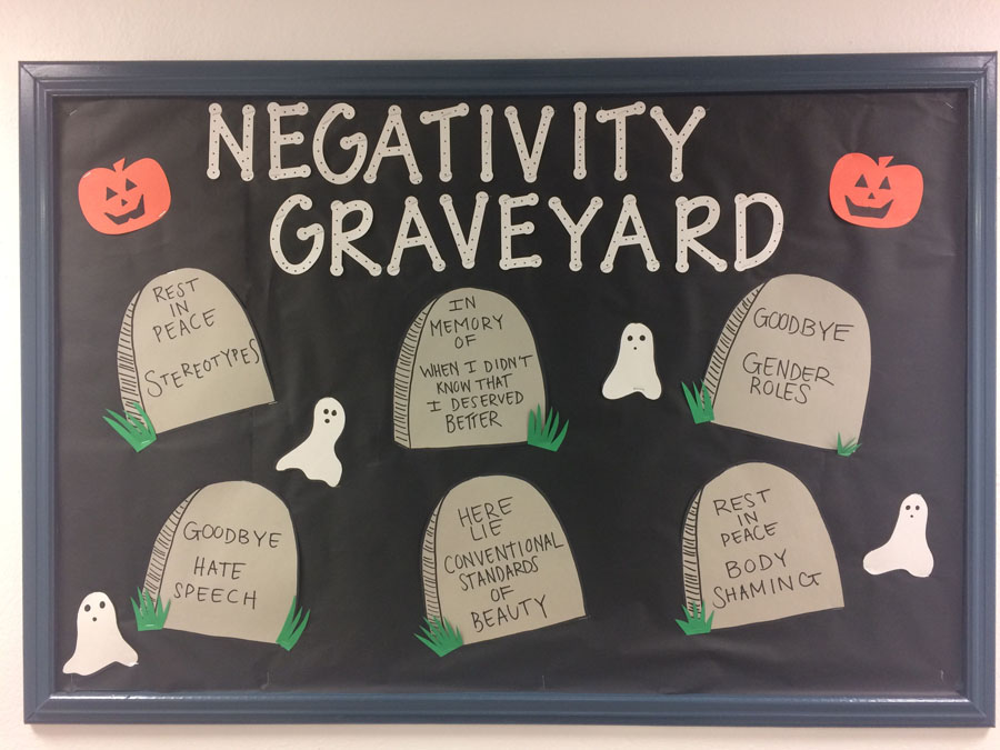 13 Negativity Graveyard October Bulletin Board
