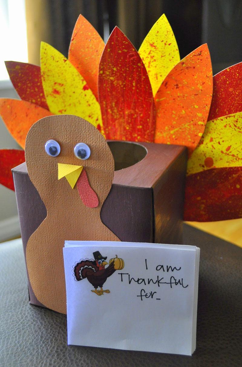 15 Thankful Turkey Tissue Box
