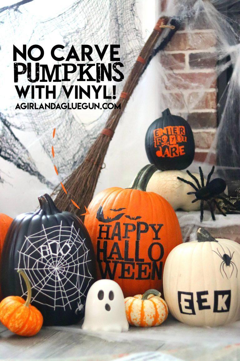 17 Halloween Pumpkins with Vinyl