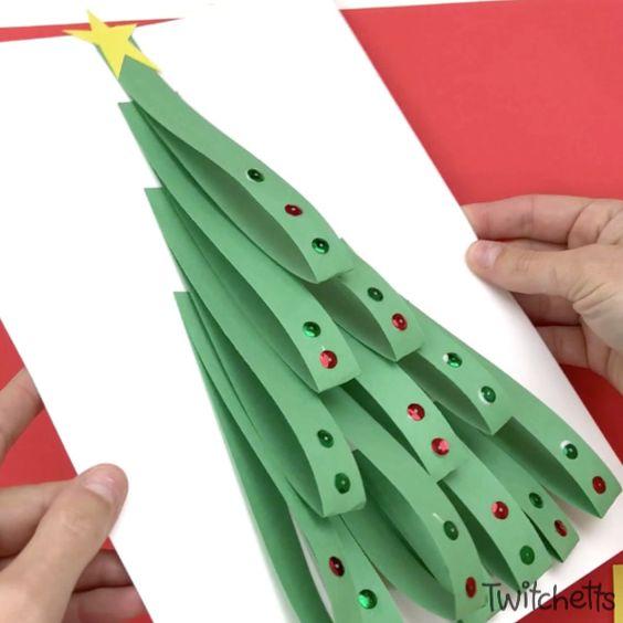 18 looped paper Christmas tree
