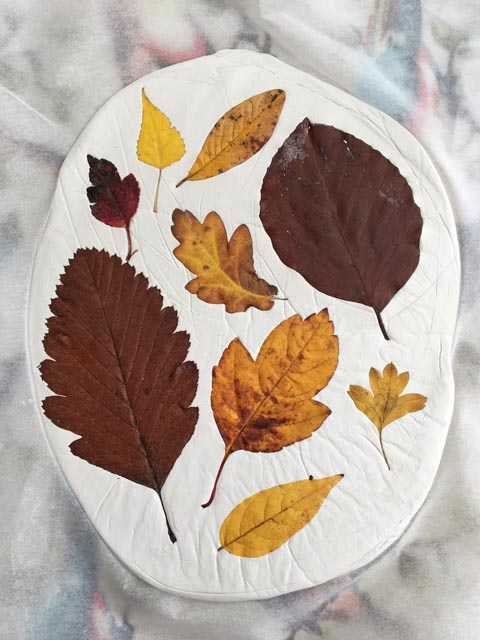 19 Leaf Printed Air Drying Clay