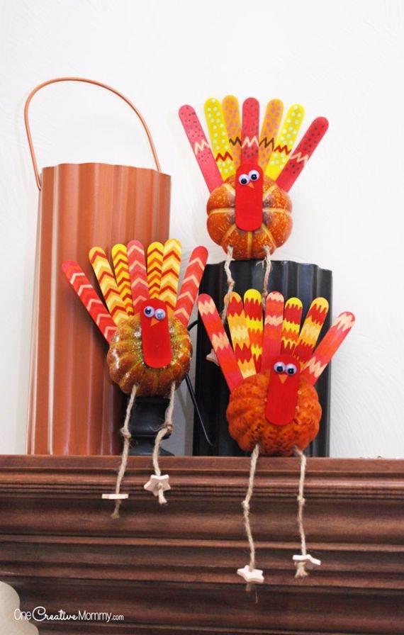 2 Thanksgiving pumpkin turkeys