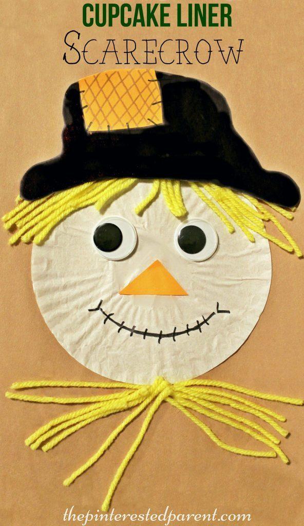 20 Cupcake Liner Scarecrow