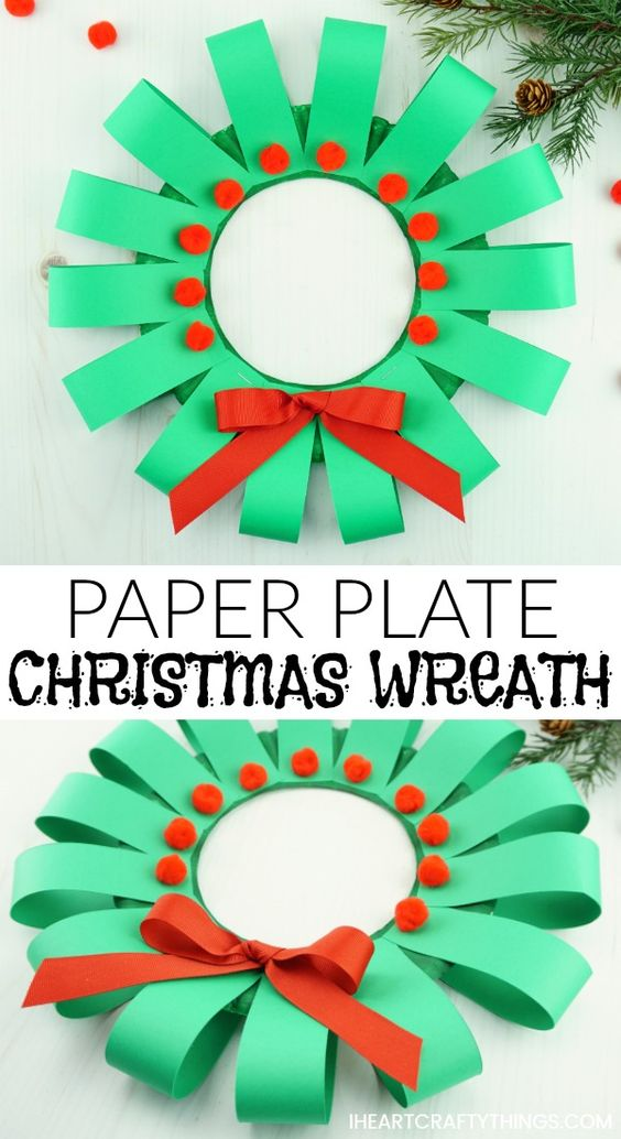 20 Paper Plate Christmas Wreath