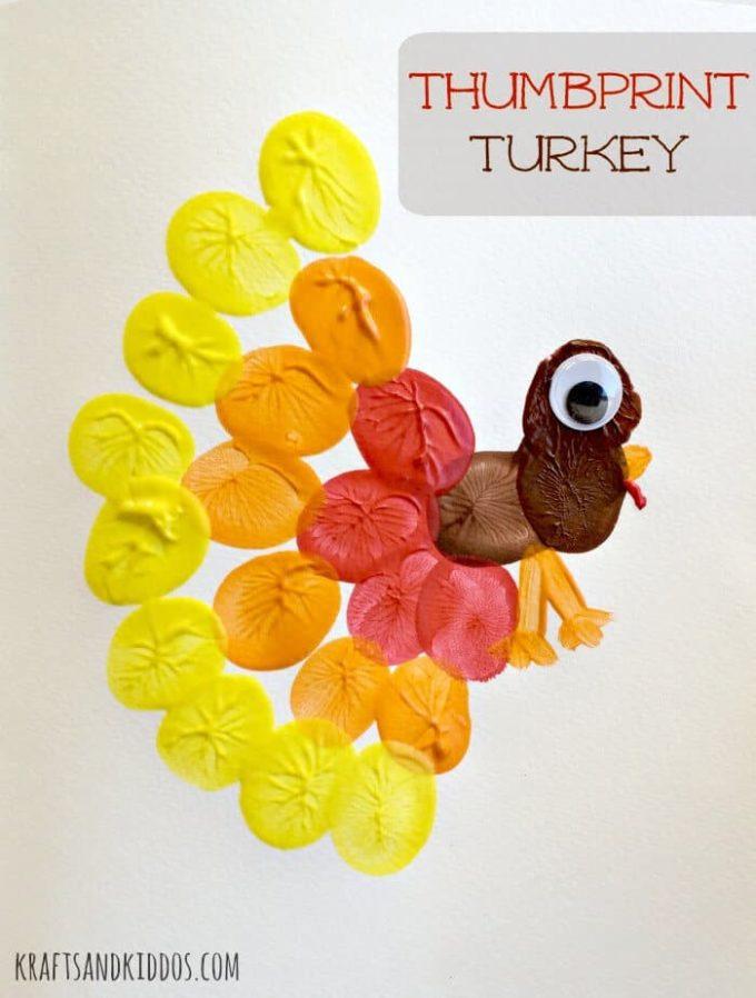 21 Thumbprint Turkey Craft