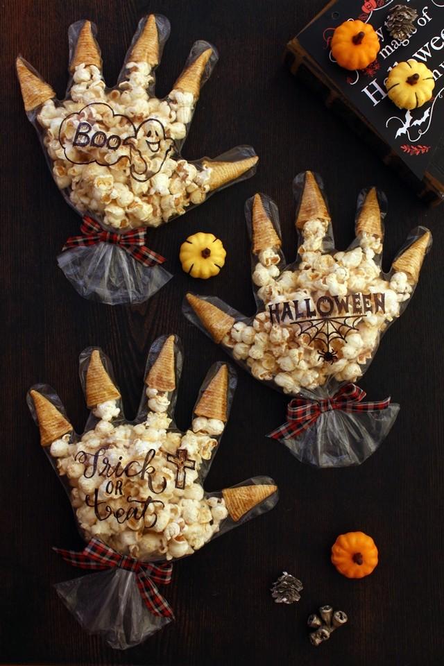 22 Halloween Monster Hand Treat Bags