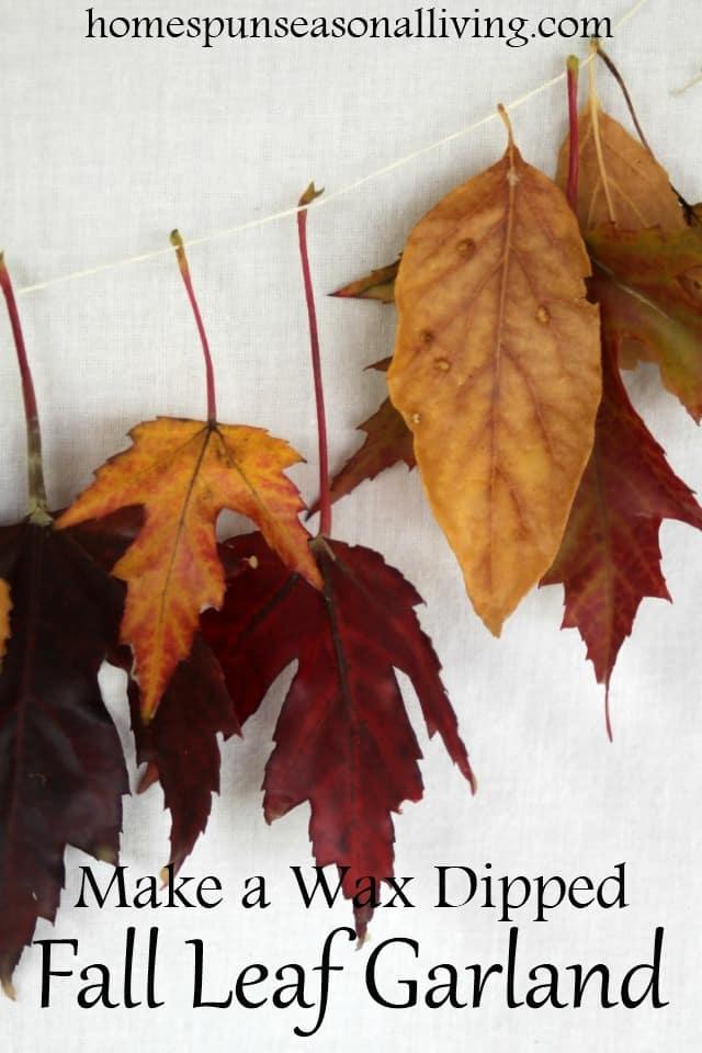 24 Fall Leaf Garland