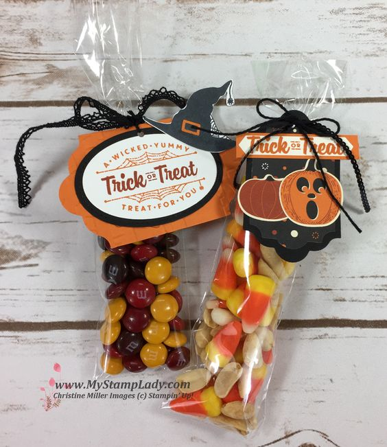 24 Jack-o-lantern Halloween treats