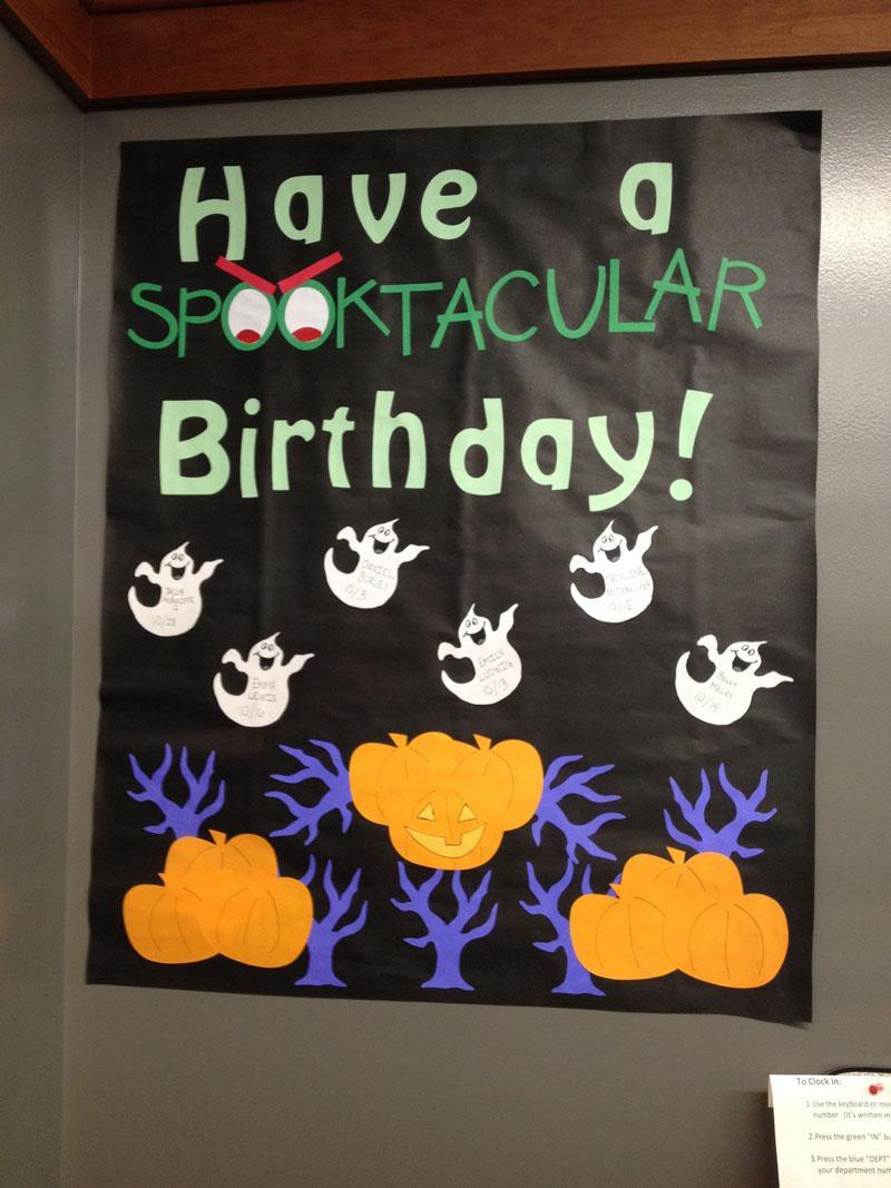 26 October Birthday Bulletin Board