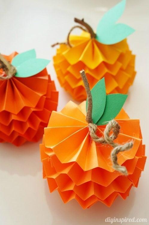 26 Paper Pumpkins
