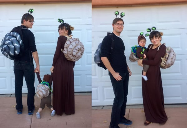 26 Snails Family Halloween Costumes