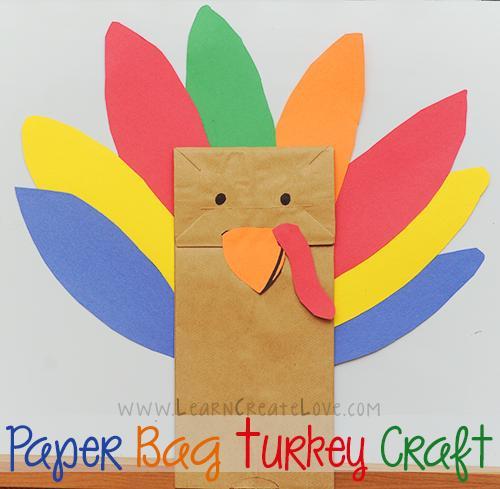 29 Paper Bag Turkey Craft