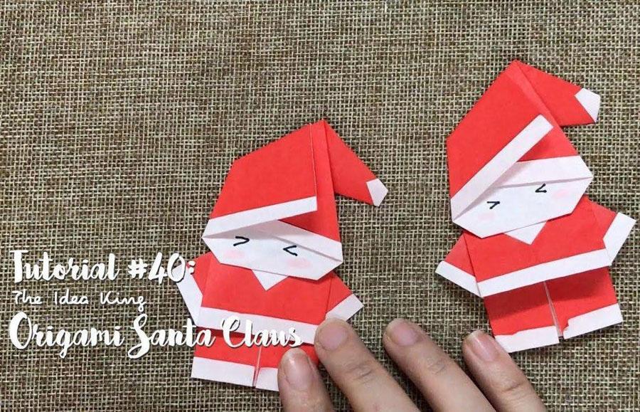 3 DIY Origami Santa Claus