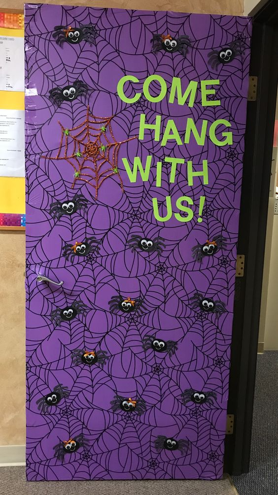 3 Halloween Spider bulletin board